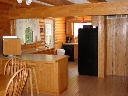 Kitchen and Dining area of Alpine Snow Cabin.